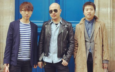 Trois garçons dans le vent