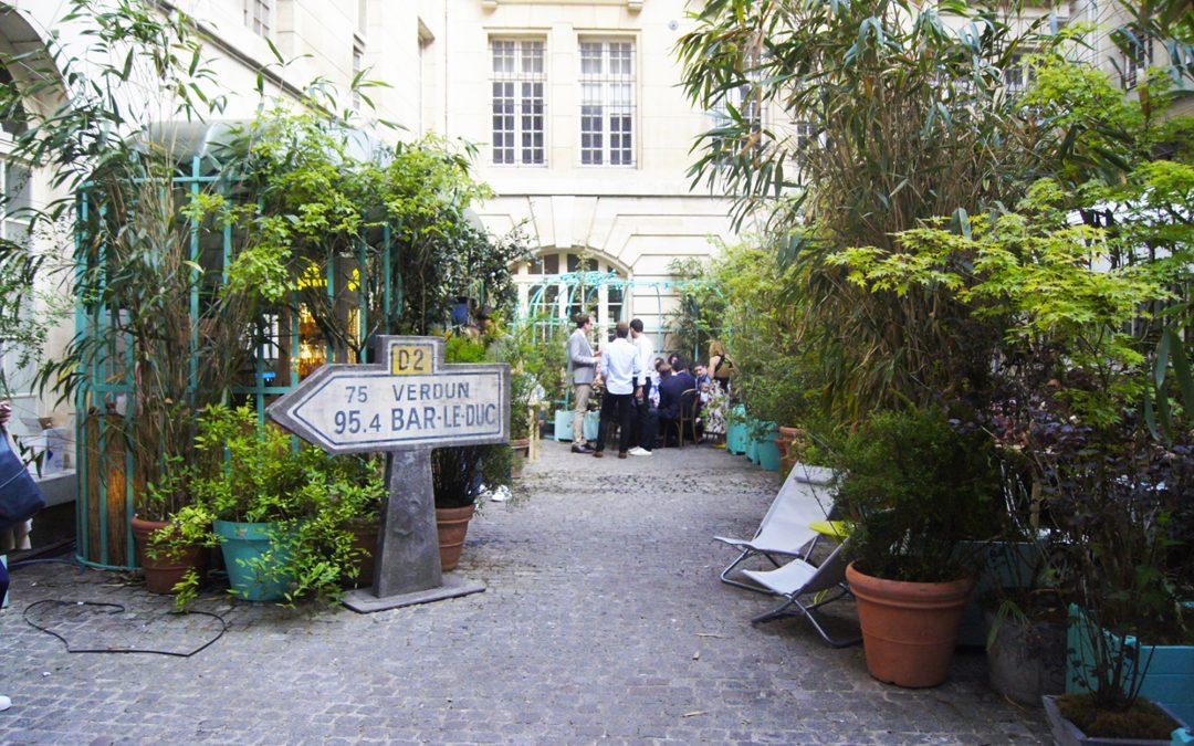 Un jardin secret dans Le Marais